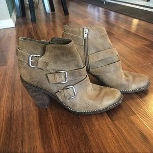 Dolce Vita Suede Taupe Ankle Boots